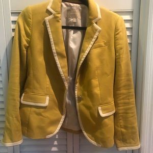 Banana blazer jacket gold yellow petite